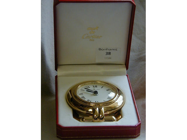 Must de Cartier Desk alarm clock