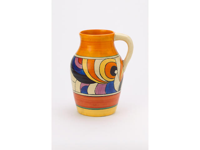 Clarice Cliff jug - swirls