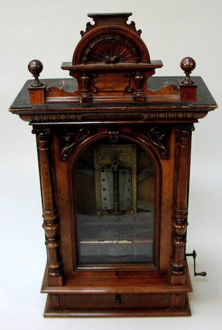 A Polyphon style 104P penny in the slot upright disc musical box,