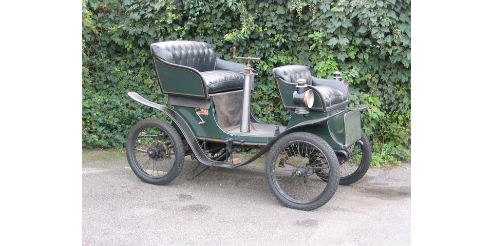 1900 De Dion Bouton 3 1/2hp Imperial Double Phaeton  Chassis no. 971 Engine no. 1980