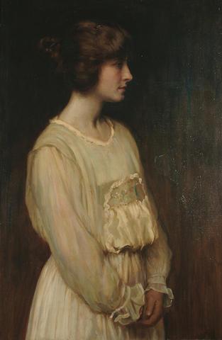 Frank Percy Wild (British, 1861-1950) Enid, 36 2/8 x 24 in. (92 x 61 cm.)