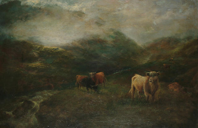 A** Beaumont  'Early morning mists in the highlands', 23 5/8 x 35 5/8 in. (60 x 90.4 cm.)