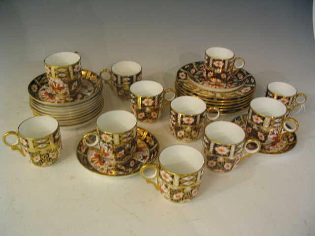 A part Royal Crown Derby Coffee Set,