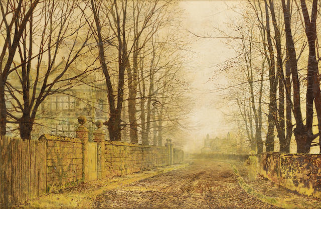 John Atkinson Grimshaw (British 1836-1893) Golden Eve 31 x 45.5 cm. (12 1/4 x 18 in.)