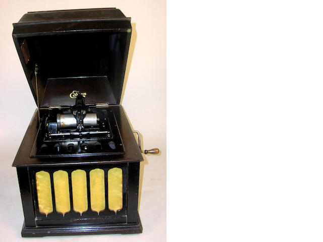 An Edison Amberola model 30 phonograph,