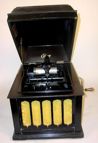 An Edison Amberola model 30 phonograph,