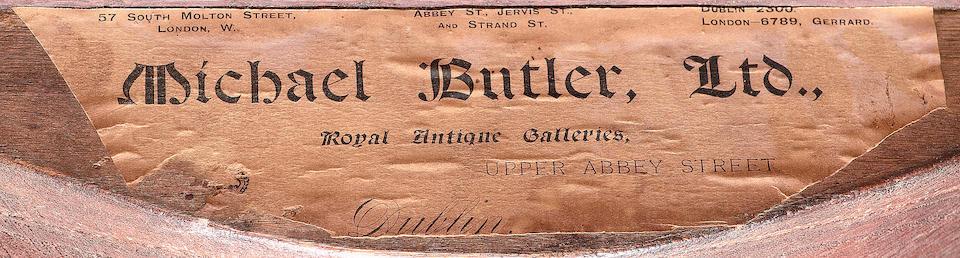 A late 19th century French bois satine bureau platin the Louis XV style