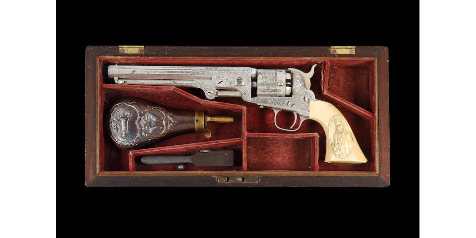 A Fine Cased Deluxe Colt 1851 Model Navy Percussion Revolver Belonging To The Hon. H. Mc.Cunn