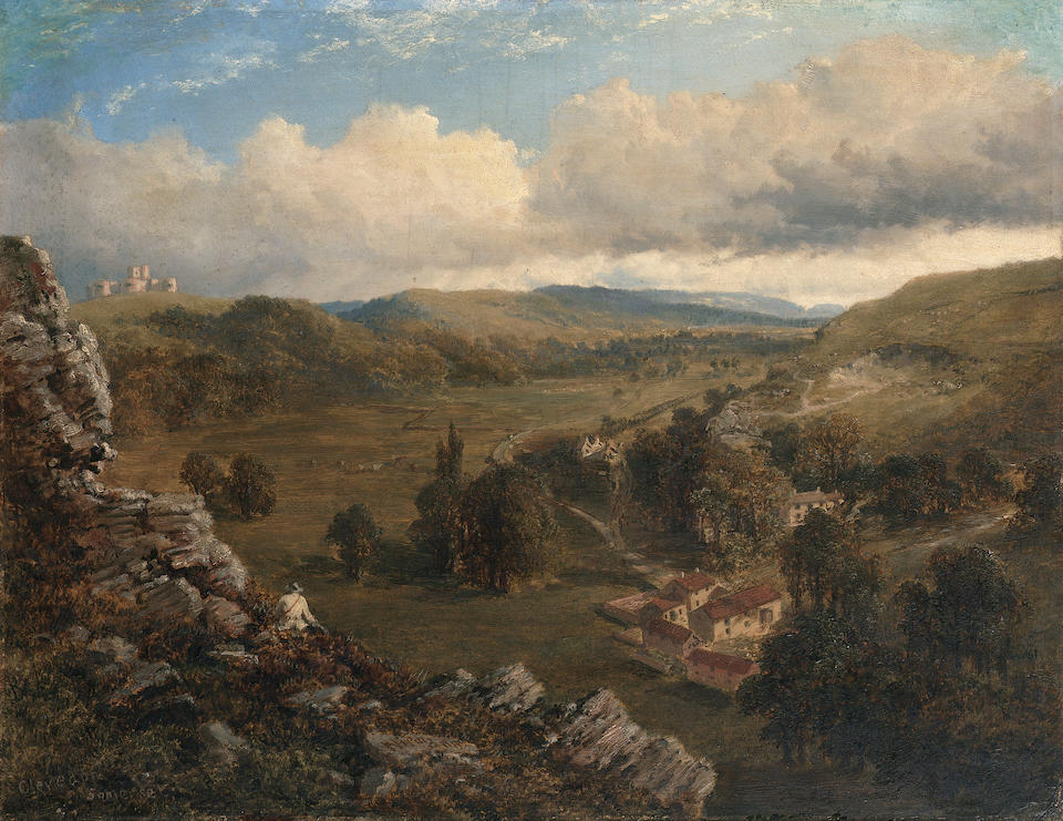 Edmund John Niemann (British 1813-1876) Clevedon, Somerset 36 x 46 cm. (14 x 18 in.)