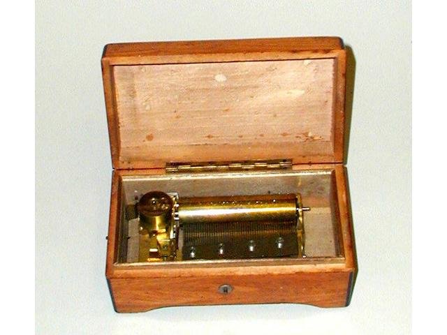 A small musical box,