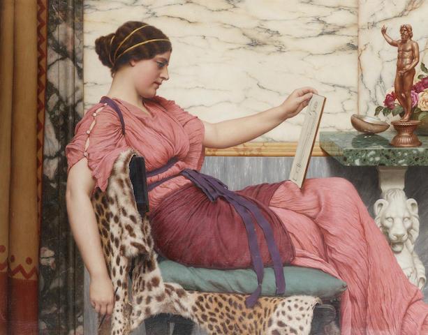 John William Godward, RBA (British 1861-1922) An Amateur 59.5 x 76 cm. (23 1/2 x 30 in.)