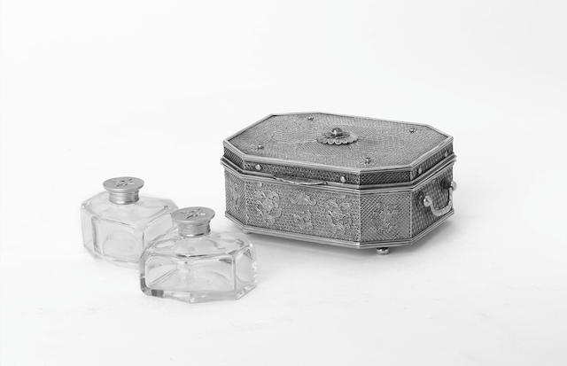 An Oriental silver-gilt and gem-set Sirih box, probably Batavian, third quarter of the 18th Century,