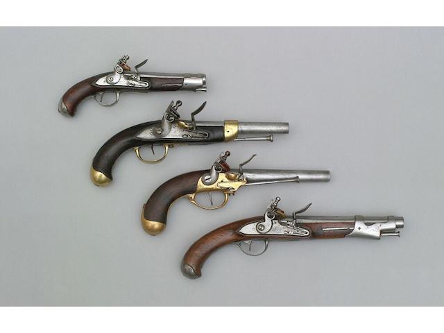 A French Model 1763 flintlock Dragoon pistol
