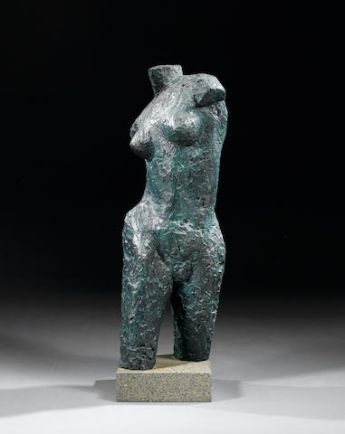 Dame Elisabeth Frink R.A. (1930-1993) Female torso 80 cm. (31 1/2 in.) (high) (including base)