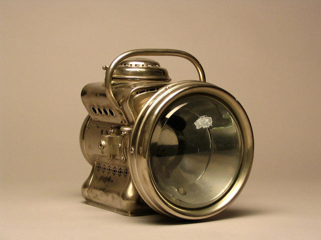 A single Powell & Hanmer self-generating acetylene headlamp, British, circa 1905,