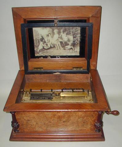 A symphonion style 25A disc musical box,