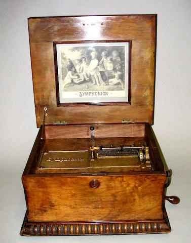 A Symphonion disc musical box,