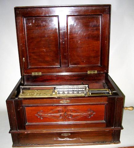 A Stella model 84 disc musical box,
