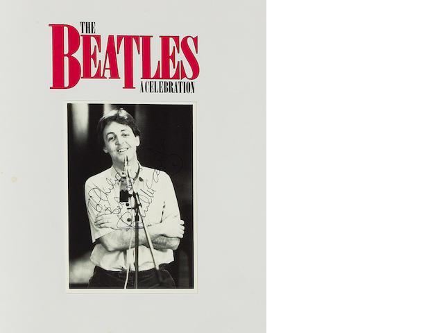 An autographed publicity photograph of Paul McCartney, 1980s,