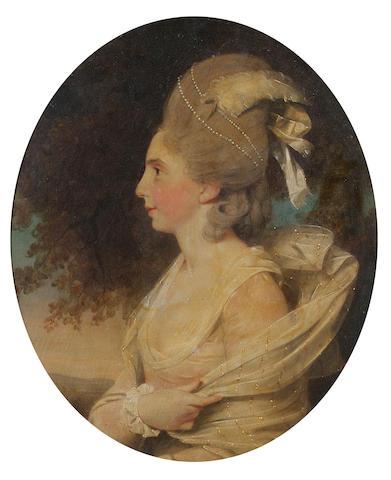John Downman (Ruabon 1750-1824 Wrexham) Portrait of Susan Rushbrooke, 23 x 19.4 cm. (9 x 7 5/8 in.)