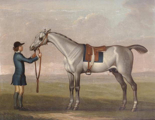 James Seymour (London 1702-1752) A grey racehorse 30 x 37.7 cm. (11¾ x 14 7/8 in.)