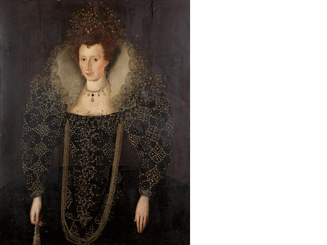 English School, circa 1600 Portrait of a noblewoman, 113 x 89 cm. (44½ x 35 in.)