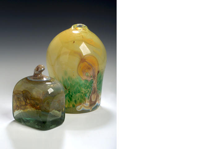 Sam Herman, A large glass vase,