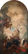 Circle of Giovanni Battista Tiepolo (Venice 1696-1770 Madrid) The Apotheosis of a Bishop Saint - a b