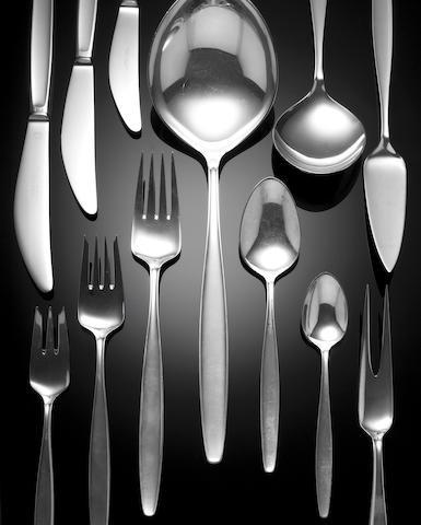 Georg Jensen, Circa 1960, A silver flatware service,
