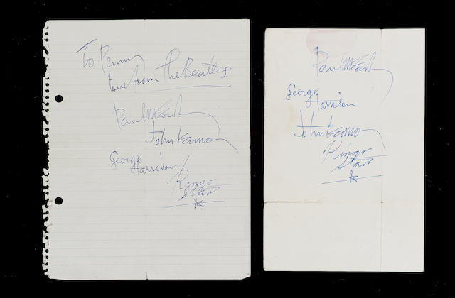 Beatles autographs,