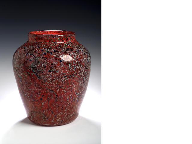 Monart, a 'Paisley Shawl' Vase, shape JA,