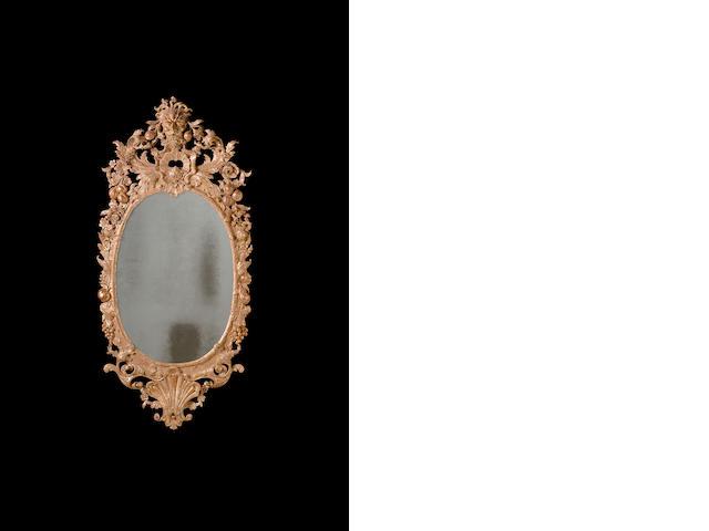 A George II giltwood mirror
