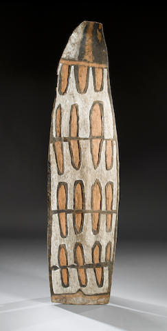 An Asmat Shield  height: 188cm