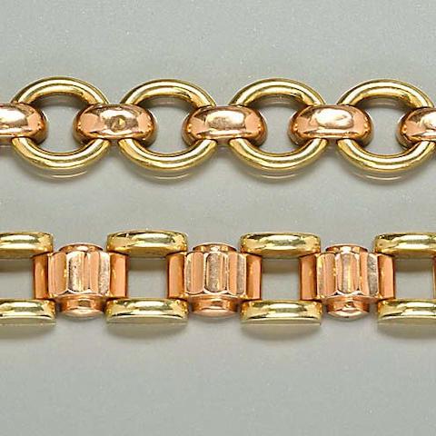 An articulated bi-coloured bracelet (2)