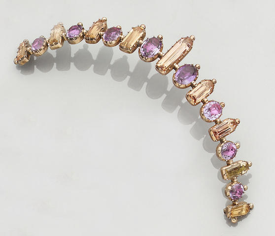 An early 19th century amethyst and topaz tiara (2)