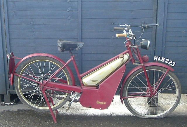 c.1950 James Superlux Autocycle  Frame no. J14647