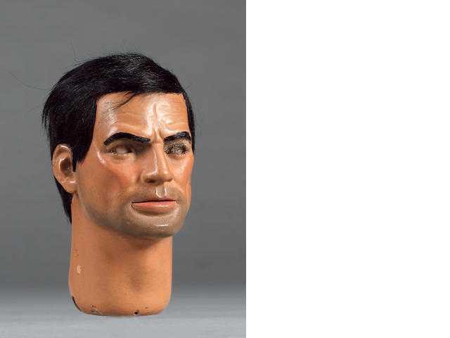 Captain Scarlett And The Mysterons: an original Captain Black puppet head,