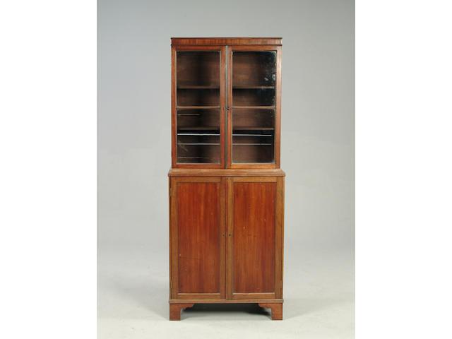 A George III style mahogany small bookcase