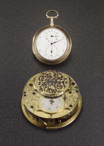 A rare and important cylinder pocket watch by Larcum Kendall  signed and dated London 1776