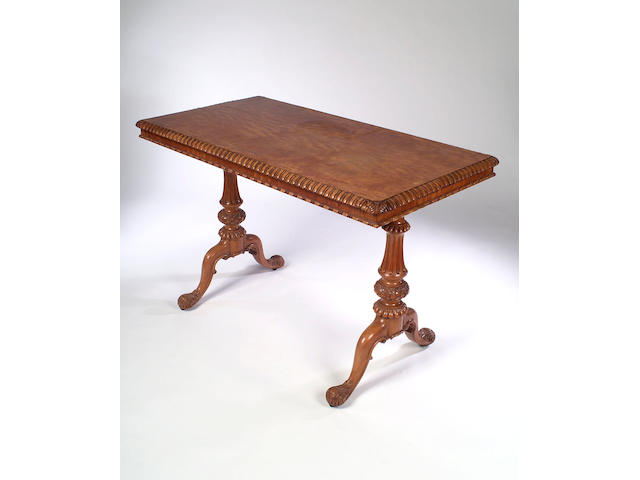 A satinwood Centre Table, stamped GILLOWS, LANCASTER,