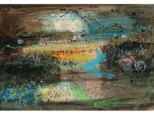 John Piper (British, 1903-1992) St Davids 14 x 20 in. (36 x 51cm.)