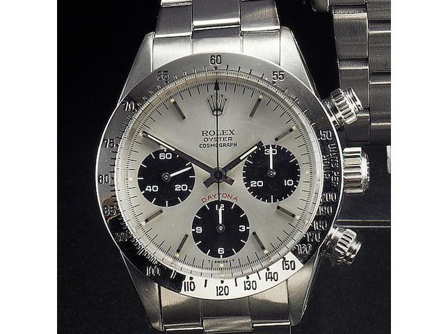 Rolex. A fine stainless steel chronograph wristwatchCosmograph Daytona, Ref:6265/0 1971