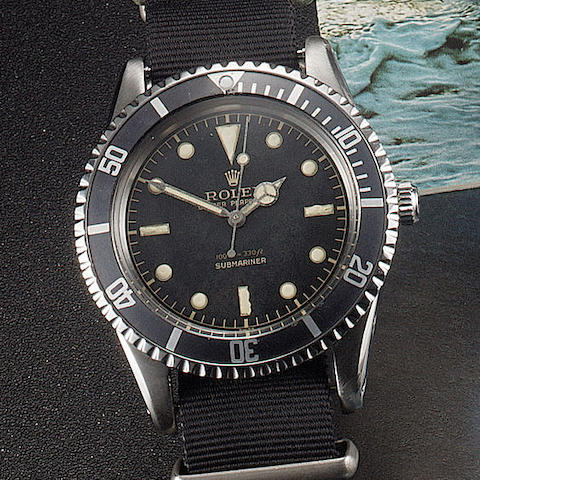 Rolex. A fine stainless steel automatic centre seconds wristwatch Oyster perpetual Submariner ref:65