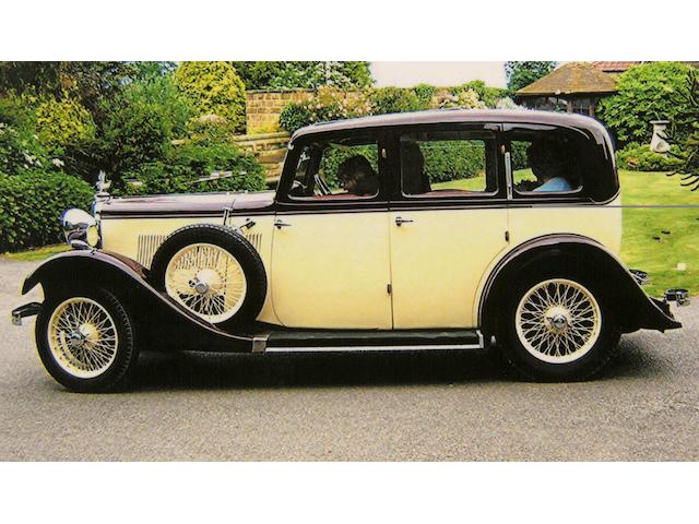 1934 Sunbeam Dawn Saloon  Chassis no. 6358T Engine no. 6367F