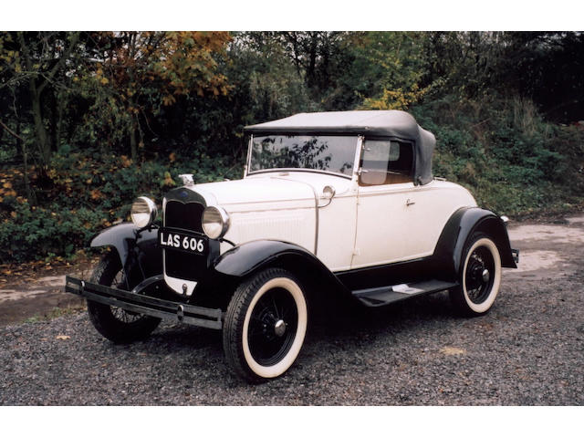 1931 Ford Model A Rumble Seat Roadster  Chassis no. 701310 Engine no. A3817658