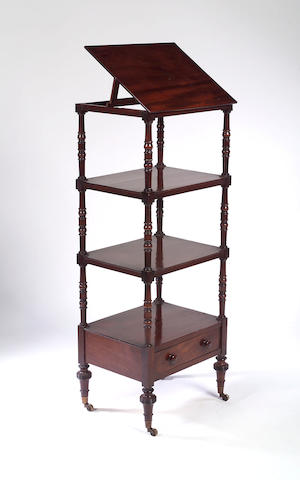 A Regency mahogany four tier Whatnot,