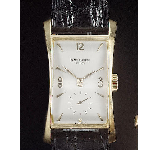 Patek Philippe. A fine gents rectangular wristwatch Ref:1593, circa 1943