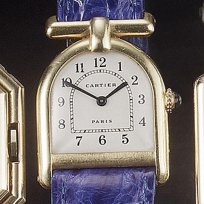 Cartier.  An 18ct gold watchCloche, case numbered 227152