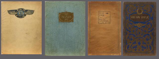 1921 3 litre Bentley sales catalogue,
