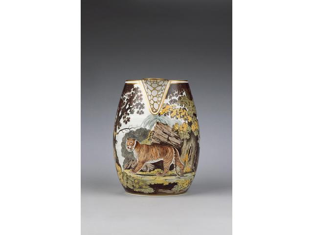 A highly important Cambrian Pottery jug by Thomas Pardoe circa 1800